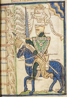 Summa de vitiis et virtutibus by Willelmus Peraldus, British Library Harley MS…