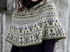 flintknits' fair isle cape