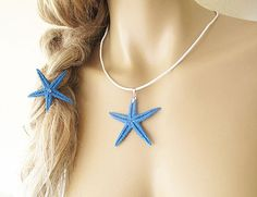 Summer Hair Accessories Starfish Hair and Neck by aynurdereli, $17.00 hair #accessory #fashion #hairband