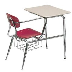Scholar Craft 850 Series Chair Desk - These popular chair desks feature a 5/8-inch solid Melamine Resin hard plastic seat and back that resists chipping, scratching and fading, providing a stylish and durable classroom seating solution.   For additional support, each school desk with chair includes a wraparound arm brace that provides additional strength to the frame back. Chair desk tops are 5/8-inch Melamine Resin solid plastic surface.  Includes an underseat bookrack. [SC857-SPBR]