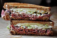 Reubens - These are the best Reubens made with cabbage instead of sauerkraut.