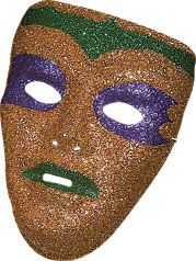 PVC Male Glitter Mask by Rubies Costume Co