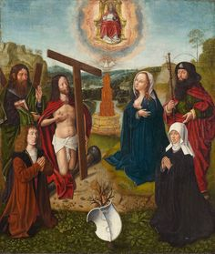 Flemish School, CHRIST AND THE VIRGIN AS INTERCESSORS, Auction 956 Steinmetz Collection, Lot 1528