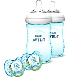 Avent Natural Bottles Gift Set Phillips Avent Baby Bottle Set 2 pack +Pacifiers #PhilipsAVENT