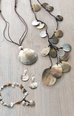 Shell Jewelry is nice to wear with light summer tops.