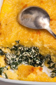 Polenta al Forno With Spinach, Ricotta and Fontina Recipe - NYT Cooking