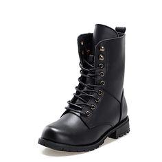 botas de los zapatos de combate de las mujeres botines de tacón bajo – MXN $ 288.94