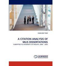 A Citation Analysis of Mlis Dissertations