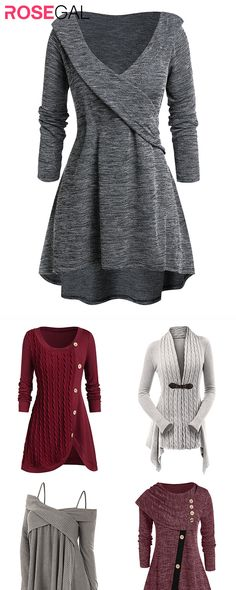 Rosegal plus size Fall Sweater outfits Women autumn fashion sweater ideas - Fall Fashion Sweater Fashion, Sweater Outfits, Dress Outfits, Fall Outfits, Casual Outfits, Fashion Outfits, Womens Fashion, Fashion Trends, Dresses