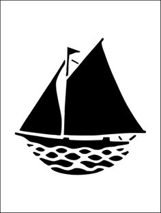Yacht stencil from The Stencil Library BUDGET STENCILS range. Buy stencils online. Stencil code MS39.
