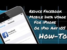 "[Tips] How to Reduce Facebook Mobile Data Usage For iPhone / iPad -  #socialmarketing #socialmedia #socialmediamanager #social #manager #facebookmarketing How to Reduce Facebook Mobile Data Usage For iPhone / iPad Hi guys!! :"") It's pretty well known among Smartphone users that the Facebook app is one of the biggest consumers of data, not to mention... - #FacebookTips"