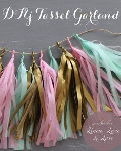 DIY Anleitung Quasten Girlande | Tassel Garland by Linen Lace Love