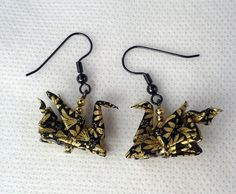 Origami Dragons Earrings - made by www.ArsOrigami.com