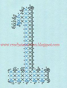 Letras y números CROCHET | Aprender manualidades es facilisimo.com Crochet Diagram, Crochet Chart, Filet Crochet, Crochet Motif, Hand Crochet, Crochet Stitches, Crochet Letters Pattern, Crochet Alphabet, Cross Stitch Alphabet
