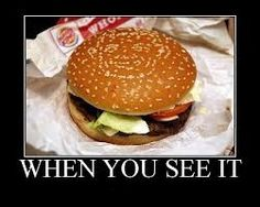 When you see it - Cheese burger - http://jokideo.com/when-you-see-it-cheese-burger/