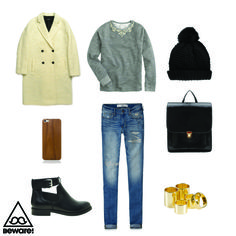 #Fashion Selection n°64 : Paul Smith Black Label coat, Abercrombie jeans, J Crew sweater, Top Shop hat, Asos boots, Yes Style bag, Fanny Lyckman For Estradeur knuckle rings, Blue Fly iphone case : http://bewaremag.com/2014/01/19/selection-mode-64/