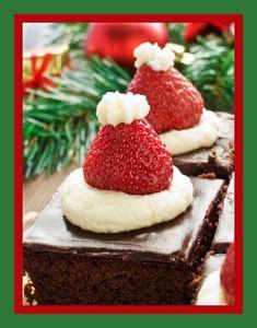 Christmas Santa Hat Brownies