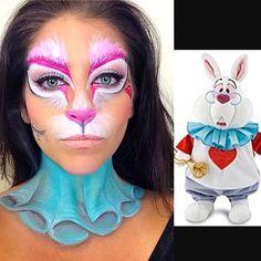 White rabbit fron Alice In Wonderland makeup by Alyssa DelTorre