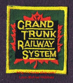 LMH PATCH Badge  GRAND TRUNK Railway System GT CANADIAN NATIONAL CN CNR Railroad picclick.com
