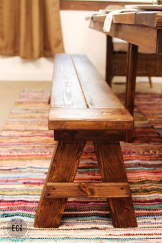 Bench For Kitchen Table Easy Diy. DIY 60 Inch Square Farmhouse Table DIY Home Projects In . 53 Free DIY Farmhouse Table Plans For A Rustic Dinning Room. Home and Family Rustic Furniture, Diy Furniture, Furniture Design, Modern Furniture, Plywood Furniture, Chair Design, Concrete Furniture, Furniture Stores, Build A Farmhouse Table