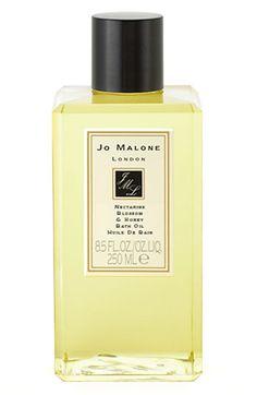 Jo Malone London Nectarine Blossom & Honey Bath Oil Beauty & Cosmetics - All Fragrance - Bloomingdale's Ginger Bath, Peach Sorbet, Lime And Basil, Jo Malone, Orange Blossom, Jaba, Bath And Body, Perfume Bottles, Pure Products