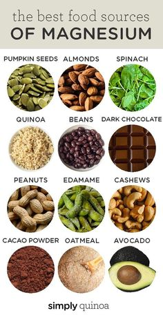 Nutrition 2040762318906017 - The best 12 rich food sources of MAGNESIUM! We're sharing the benefits of magnesium and why it's important and how to add more to your diet. Plus some recipes – with foods like chocolate, quinoa, oatmeal and more! Source by Magnesium Benefits, Magnesium Sources, High Magnesium Foods, Foods Rich In Magnesium, Foods High In Potassium, Zinc Benefits, Healthy Snacks, Healthy Recipes, Most Healthy Foods