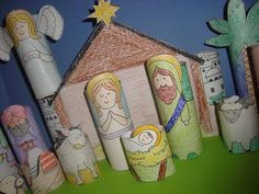 Finally, a nativity that the kids can put together themselves! And, it won't break!