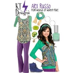 A fashion look from April 2013 featuring paisley tops, green top and tall pants. Browse and shop related looks. Selma Gomez, Another Cinderella Story, Alex Russo, Disney Channel Shows, Waverly Place, Tall Pants, Disney Bound Outfits, Hat Hairstyles, Inspired Outfits