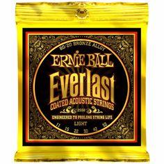 Ernie Ball 2558 Everlast 80/20 Bronze Light Acoustic Guitar Strings 011-052 #Affiliate