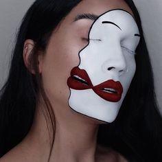 GEMINI FEED - inspired by: @chiaolihsu - #makeupforever cream color in white - #katvondbeauty tattoo liner in trooper - #ofracosmetics milan liquid lip - #sugarpill love+ & tako shadows