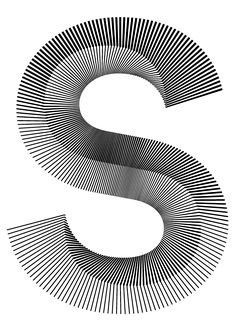The lettering presented as large. The lettering fat and wide. This letter S has been created with lines so the S becomes in in addition to this it makes an illusion that the S is moving Cool Typography, Typography Letters, Graphic Design Typography, Lettering Design, Graphic Design Illustration, Type Design, Web Design, Logo Design, Design Graphique
