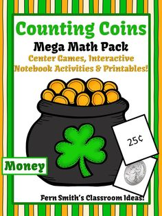 St. Patrick's Day Counting Coins Math Pack Including a #FREEBIE #TPT {paid}