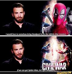 Cap would constantly be telling Deadpool to watch his language.