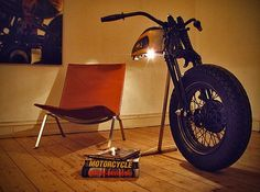 stuff made out of motorcycle parts could be a nice touch