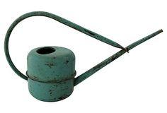 Wonderful Vintage -- Turquoise    Watering Can on OneKingsLane.com
