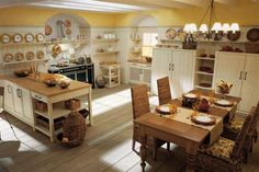 huge country kitchen