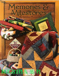 Celebrates the anniversary of the authors design, publishing and licensing company with 20 quilting and sewing projects that can help people celebrate their own milestones and mark a lifetime of memories. 3d Quilts, Applique Quilts, Patchwork Quilting, Sewing Magazines, Book Quilt, Album, Quilt Patterns Free, Book Crafts, Paper Piecing