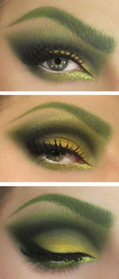 Poison Ivy eye makeup
