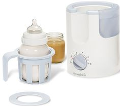 Munchkin Time Saver Bottle Warmer I use this for bottles and baby food. You can set a small bowl on top of it too, and it works like a tiny double boiler. Baby Bottle Warmer, Baby Warmer, Breastfeeding Bottles, Best Baby Bottles, Food Jar, Bottle Feeding, Baby Food Recipes, Survival List, White Heat