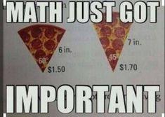 This just might help kids understand why math IS important.ha haThis just might help kids understand why math IS important. Math Puns, Math Memes, Math Humor, Math Hacks, Math Teacher Quotes, Physics Memes, Teaching Humor, Teaching Math, Fun Math