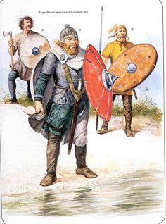 Anglo saxon warriors ca 5th century AD; they may well have served as Foederati in the post Roman British army