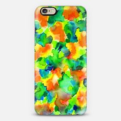 """COLOR ME FLORAL 3"" by Artist Julia Di Sano, Ebi Emporium on #Casetify @Casetify, #colorful #fineart #abstract #garden #summer #tropical #pattern #painting #watercolor #floral #flowers #yellow #lemon #lime #green #orange #blue #boldcolors #whimsical #iPhone #cellphone #phonecase #tech #device #case #cover Get $10 off using code: 5K7VFT"