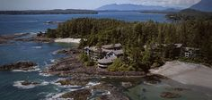 Surrounded by the ocean on three sides with an old growth forest as a backdrop, the romantic Wickaninnish Inn in Tofino, British Columbia, offers panoramic views of the Pacific, nearby islands and Chesterman Beach. All rooms have beach views, fireplaces,