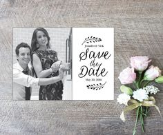 A personal favorite from my Etsy shop https://www.etsy.com/listing/250716418/photo-save-the-date-printable