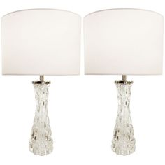 1stdibs.com | Pair of Carl Fagerlund Clear Crystal Lamps