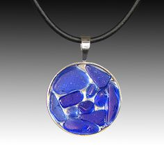 Relish, Inc. Store - Cobalt Beach Glass Pendant with Leather Necklace, $93.00 (http://www.relishinc.com/products/cobalt-beach-glass-pendant-with-leather-necklace.html)