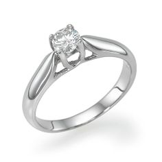 Diamond Engagement Ring 0.34 carat G/SI1 Orchid by YesIDoJewelries, $765.00