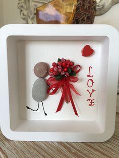 February #Valentin's day #giftideas #stoneart #stonepainting #handmade #flower #love ❤️
