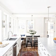 white kitchen + brea