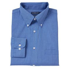 Men's Croft & Barrow® Slim-Fit Button-Down Collar Dress Shirt - Men, Size: 18 36/37, Brt Blue